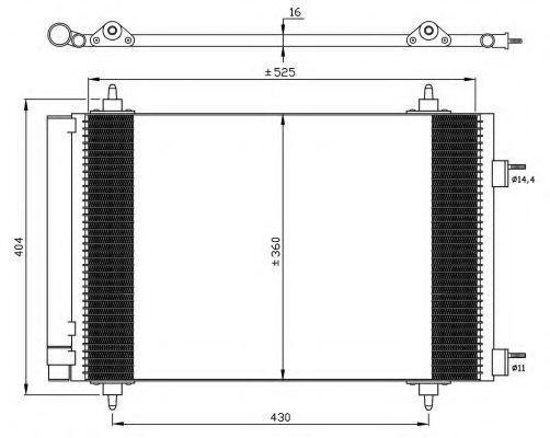 Радиатор кондиционера NRF 35611