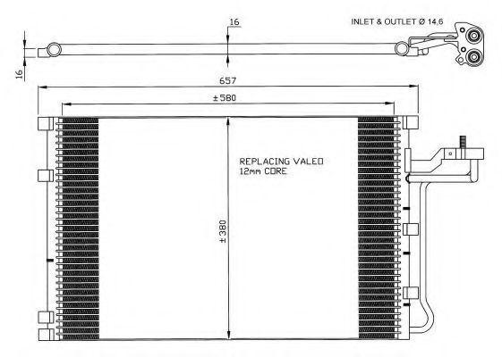 Радиатор кондиционера NRF 35616