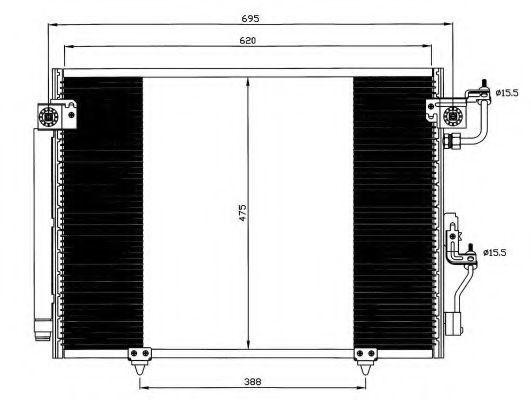 Радиатор кондиционера NRF 35619