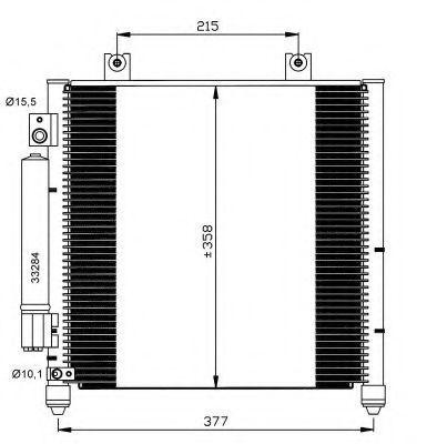 Радиатор кондиционера NRF 35637