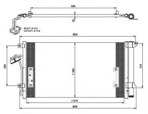 Радиатор кондиционера NRF 35639