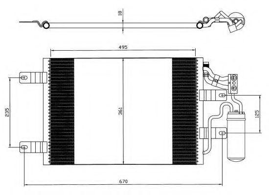 Радиатор кондиционера NRF 35646