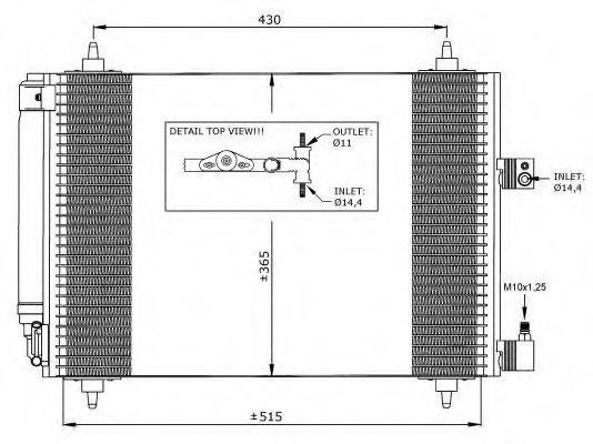 Радиатор кондиционера NRF 35649