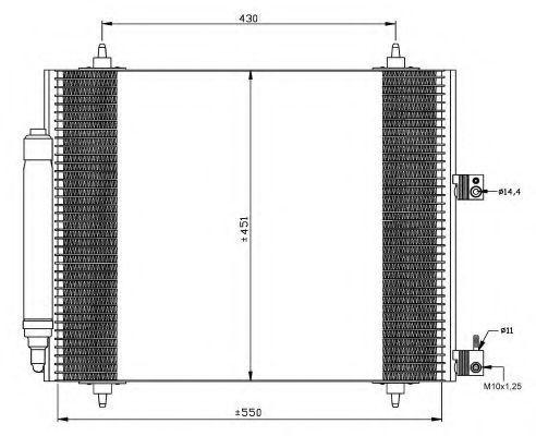 Радиатор кондиционера NRF 35669