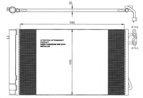 Радиатор кондиционера NRF 35743