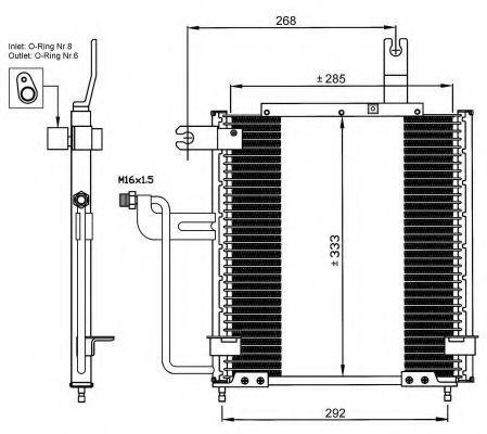 Радиатор кондиционера NRF 35744