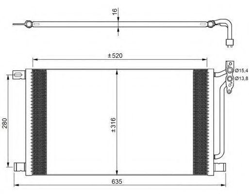 Радиатор кондиционера NRF 35748