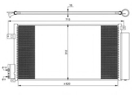 Радиатор кондиционера NRF 35750