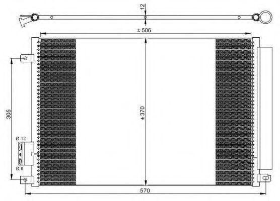 Радиатор кондиционера NRF 35753