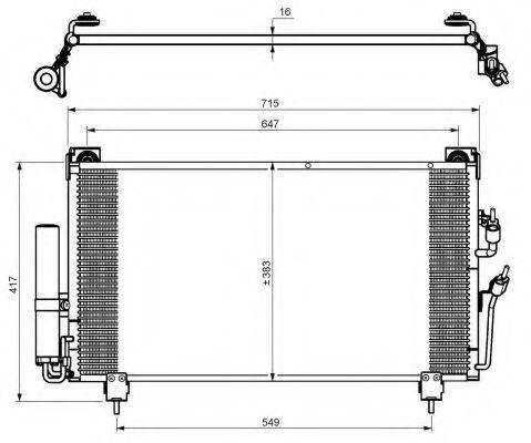 Радиатор кондиционера NRF 35755