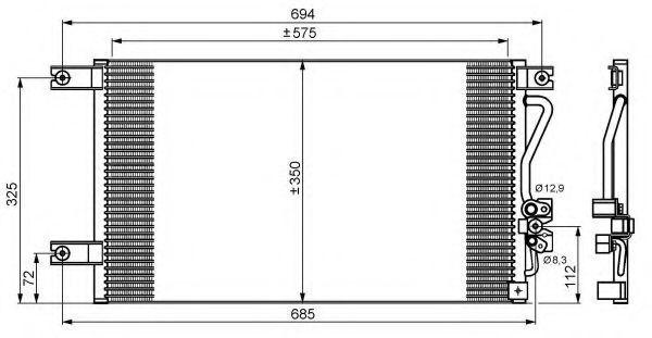 Конденсор кондиционера NRF 35756