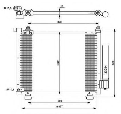 Радиатор кондиционера NRF 35764