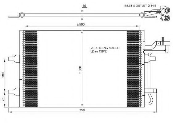 Радиатор кондиционера NRF 35770
