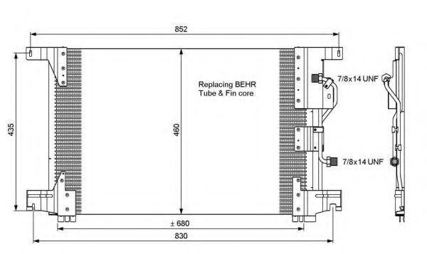 Радиатор кондиционера NRF 35772
