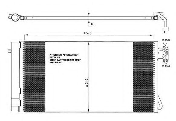 Радиатор кондиционера NRF 35773