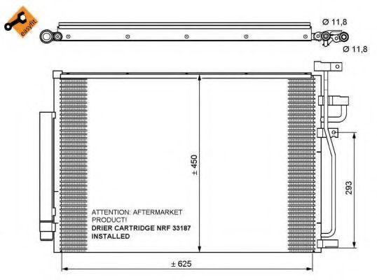 Радиатор кондиционера NRF 35775
