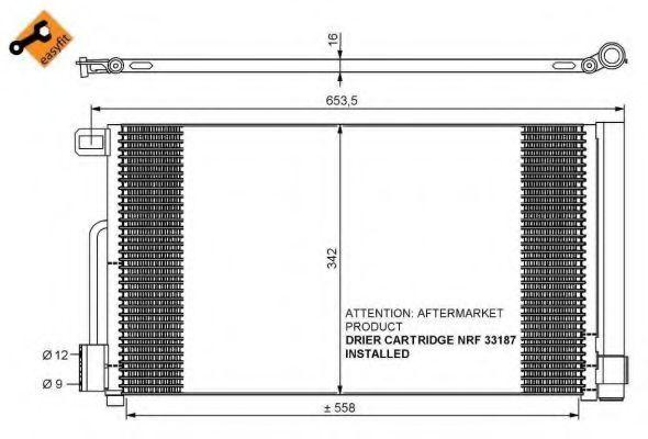 Радиатор кондиционера NRF 35777