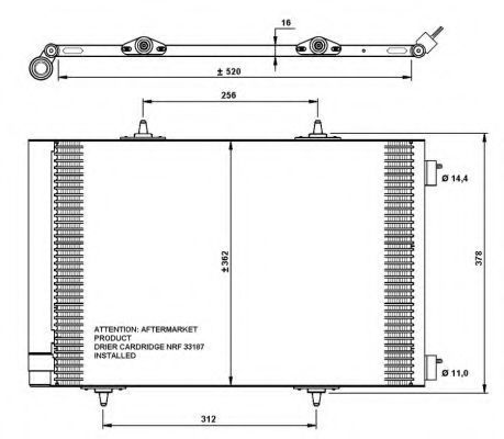 Радиатор кондиционера NRF 35779