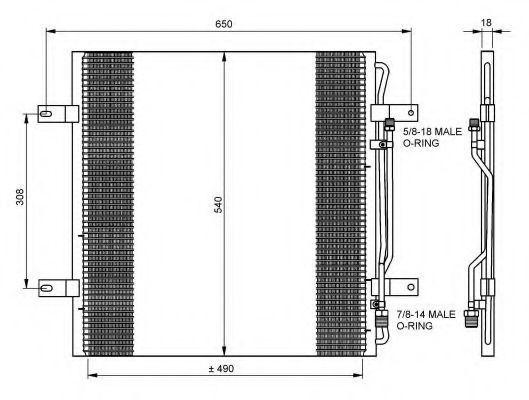 Радиатор кондиционера NRF 35781