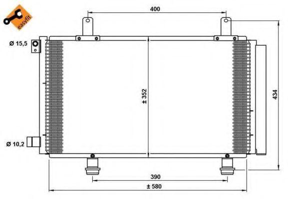 Радиатор кондиционера NRF 35782