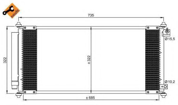 Радиатор кондиционера NRF 35791