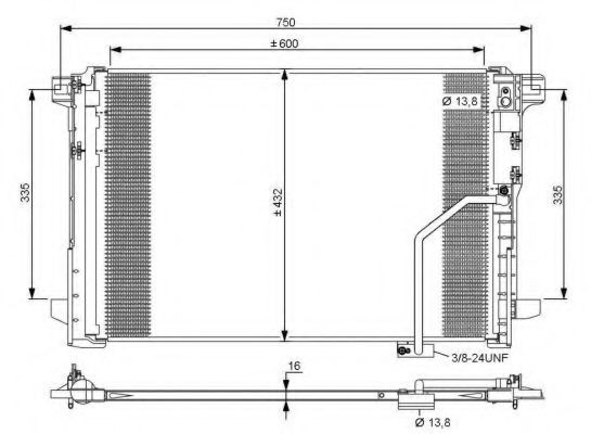 Радиатор кондиционера NRF 35793