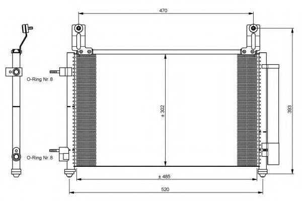 Радиатор кондиционера NRF 35796