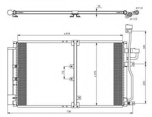 Радиатор кондиционера NRF 35797