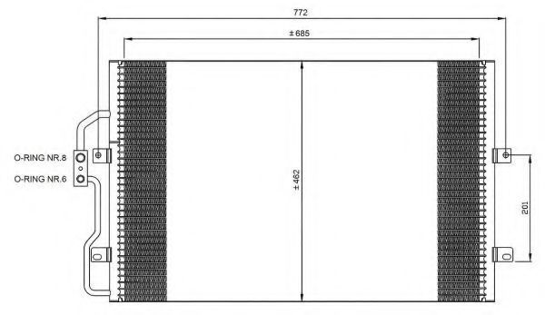 Радиатор кондиционера NRF 35802