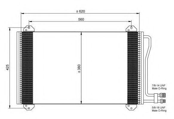 Радиатор кондиционера NRF 35811