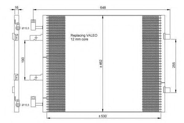 Радиатор кондиционера NRF 35845