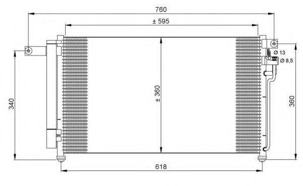 Радиатор кондиционера NRF 35851