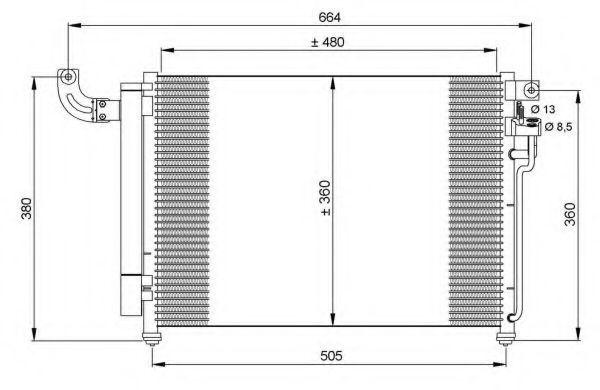 Радиатор кондиционера NRF 35852