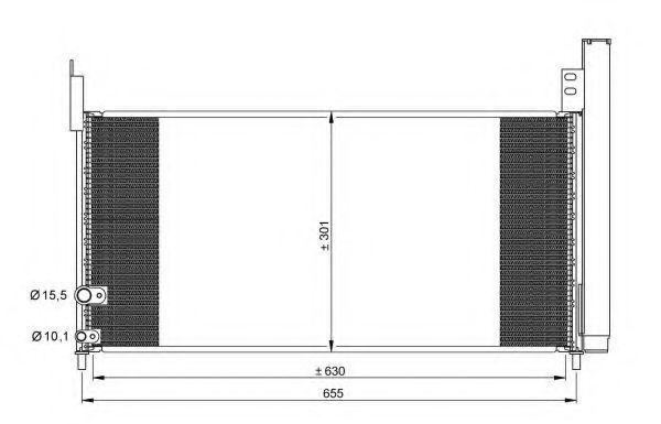 Радиатор кондиционера NRF 35863