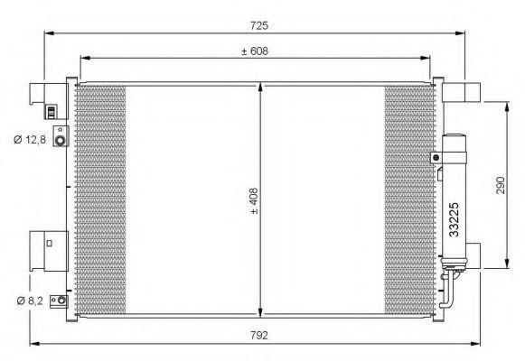 Радиатор кондиционера NRF 35872