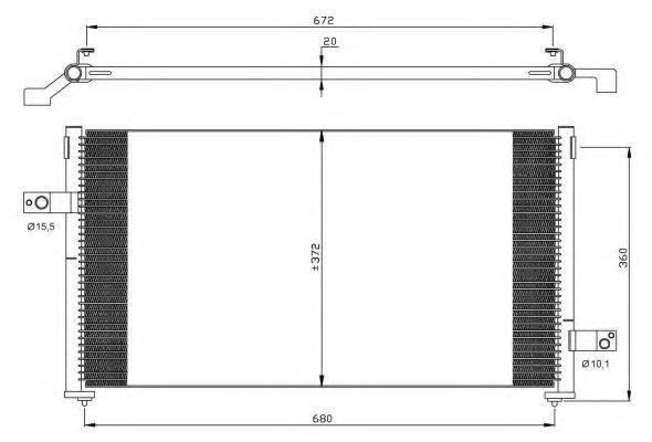 Конденсор кондиционера NRF 35877