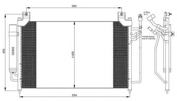 Радиатор кондиционера NRF 35881