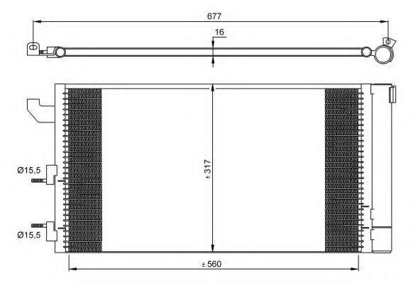 Радиатор кондиционера NRF 35883
