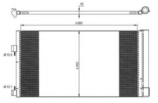 Конденсор кондиционера NRF 35890