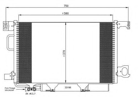 Радиатор кондиционера NRF 35893