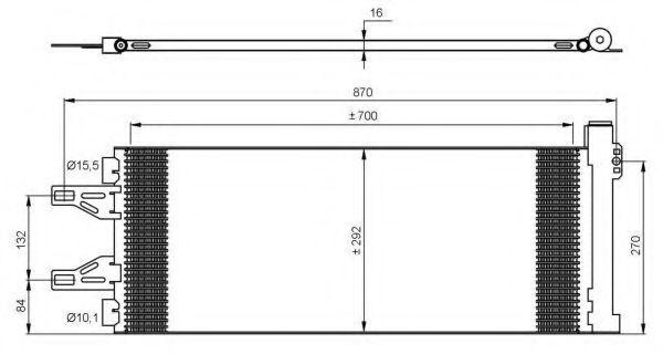 Радиатор кондиционера NRF 35894