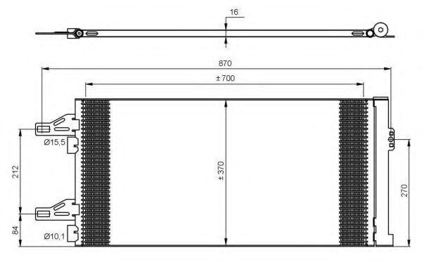 Радиатор кондиционера NRF 35895
