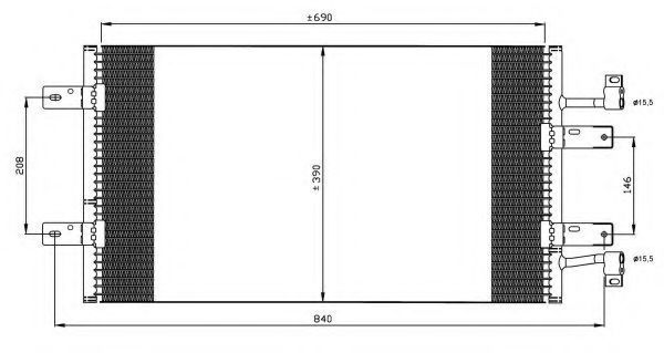 Радиатор кондиционера NRF 35900