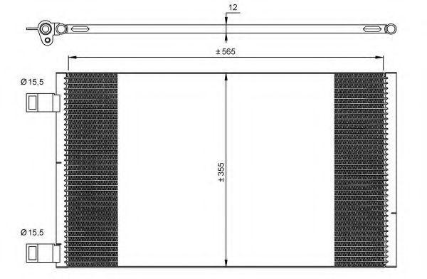 Радиатор кондиционера NRF 35902