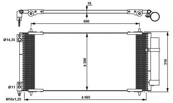 Радиатор кондиционера NRF 35905