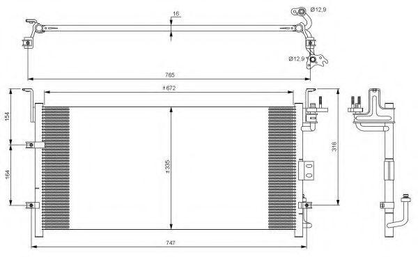 Радиатор кондиционера NRF 35917