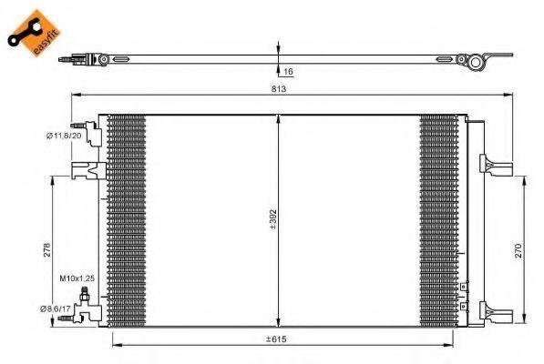 Радиатор кондиционера NRF 35919