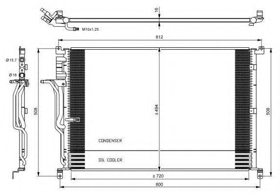 Радиатор кондиционера NRF 35923