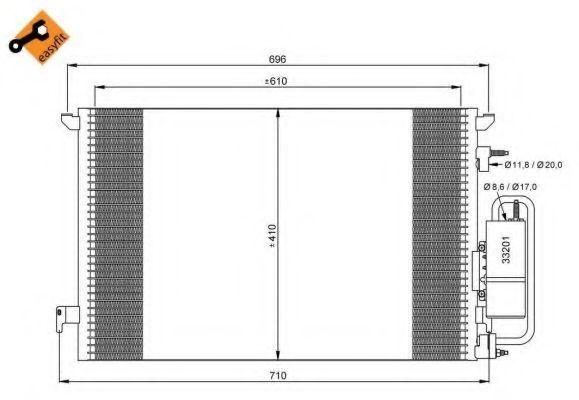 Конденсор кондиционера NRF 35929