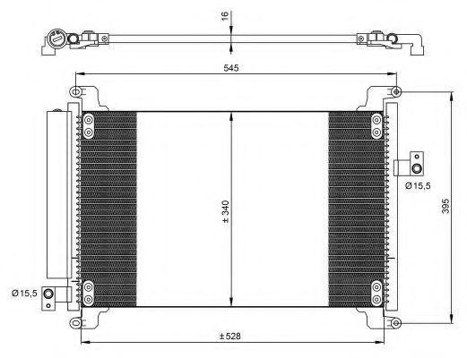 Радиатор кондиционера NRF 35941